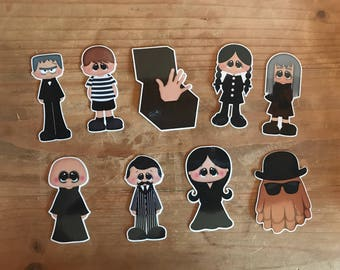 Adams Family die cuts. Planner decorations, accessories, supplies. Scrapbooking and party decorations. Planner stickers.