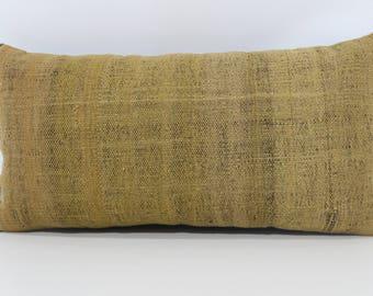 12x24 Decorative Kilim Pillow Throw Pillow Sofa Pillow 12x24 Naturel Kilim Pillow Striped Kilim Pillow Cushion Cover SP3060-959