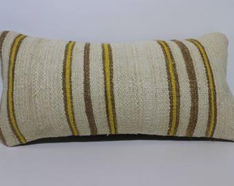 12x24 Lumbar Kilim Pillow Throw Pillow 12x24 Decorative Kilim Pillow Throw Pillow Striped Kilim Pillow Cushion Cover SP3060-1210