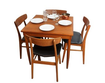 Danish Small Dining Table   J.L. Moller Square Breakfast Table