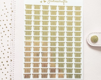 Foil Laundry Basket Stickers | Planner Stickers