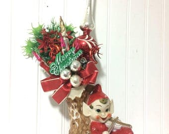 Christmas Centrepiece Made from Vintage Items