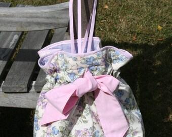Floral purple, ideal for sunny days shoulder bag