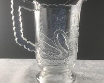 Early American Pressed Glass Swan Creamer