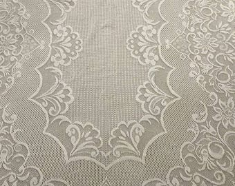 Vintage Lace Square TableCloth Cream Lace for Table of 4 Chairs Table Linen