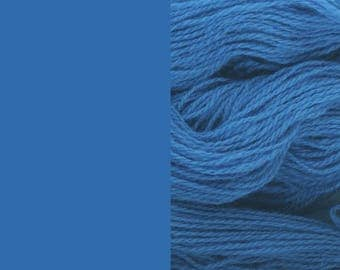 Wool Yarn, blue, DK, 3-ply worsted knitting yarn 8/3 100g/130m