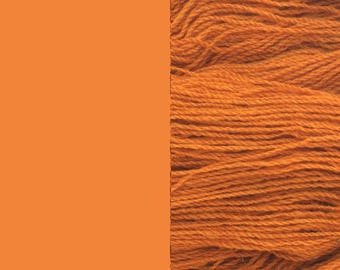 Wool Yarn, mandarin, DK, 3-ply worsted knitting yarn 8/3 100g/130m
