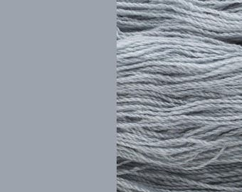Wool Yarn, cloud grey, fingering 2-ply worsted pure lambswool 8/2 100g/350m