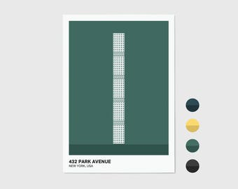 432 Park Avenue, New York Print | New York Artwork | New York Illustration | Architecture Print | City Print