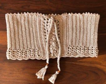 Handmade crochet ~ cotton bandeau ~
