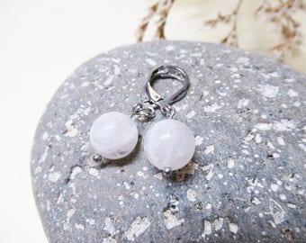 Rainbow Moonstone Earrings Moonstone Earrings Gemstone Earrings Dangle Earrings Charm Earrings Moonstone Jewelry 10mm Moonstone Gift for Her