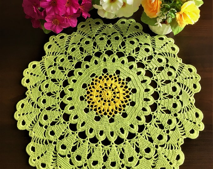 Round tablecloth rustic decor crochet coaster kitchen coasters coffee table doily grandma gift table runner lace crochet lace doily.