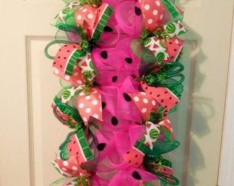 PRE-LABOR DAY Sale Watermelon swag, watermelon wreath, summer wreath, summer wreaths, summer swag, summer swags, spring wreath, spring swags