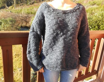 Midnight blue wool blend sweater.