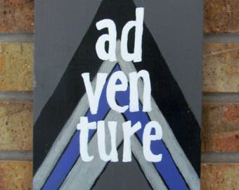 Hand-Painted Adventure Sign
