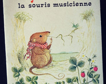 "Child album - ""Julienne mouse musician"" - small vintage - 2 roosters with gold editions book"