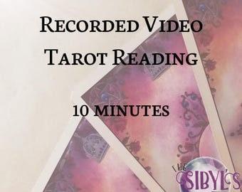 Recorded Video Tarot Reading - 10 minutes