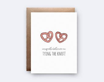 Congratulations on Tying the Knot!   Wedding Card   New Couple   Pun Wedding Card   Marriage   Wedding Congrats Card   Newlyweds