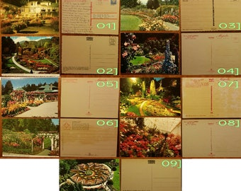 Postcards of Victoria, British Columbia, The Butchart Gardens [QTY:9]