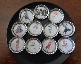 Sword Art Online Bottlecap Magnets!