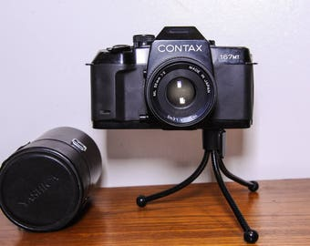 Contax 167MT SLR 35mm Film Camera with databack and Yashica ML 50mm F2.0 prime lens - 1980's