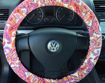 Paisley Steering Wheel Cover, Key Fob, Lanyard