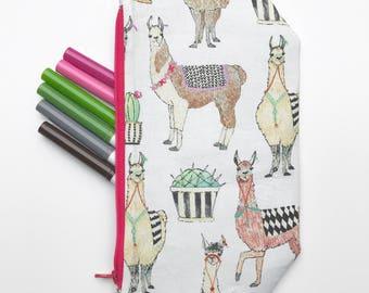No drama llama pencil pouch