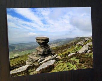 The Salt Cellar on Derwent Edge - Peak District A6 Greeting Card