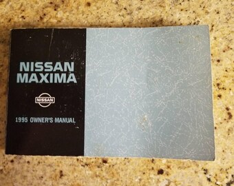 1995 Nissan Maxima Owners Manual, 95 Maxima Owners Manual, Nissan Maxima Owners Manual
