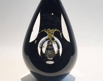 Hand blown gold Glass Sculpture, Glass Object, Beautiful Glass gift.