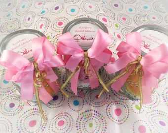 Bridal shower Favors or Prizes- pamper yourself gift!-Mason Jar Gift Ideas-spa in jar-treat yourself