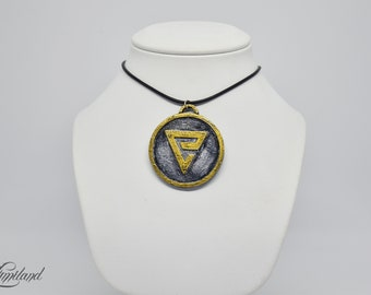 The Witcher inspired medallion - Quen sign | The Witcher cosplay | The Witcher Medallion | The Witcher Pendant