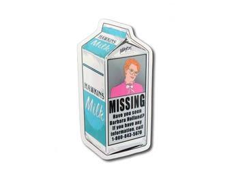 Barb Strangers Things Milk Carton Sticker