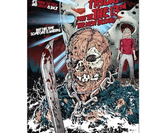Friday the 13th Part VII Jason Voorhees Alternative Horror Poster Print