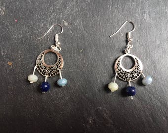 earrings with faceted beads