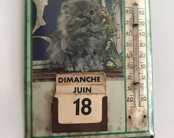Vintage calendar.