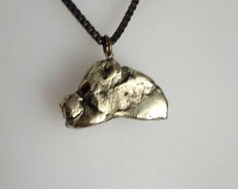 Silver pendant dog