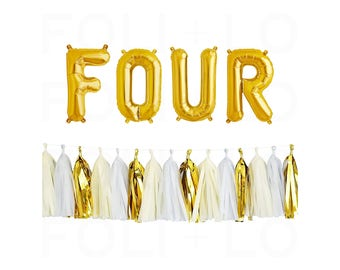 """FOUR Letter Balloons 