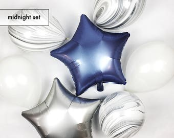 """Midnight Set of Balloons 