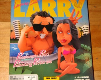 Leisure Suit Larry 3: Passionate Patti in Pursuit (PC, 1989) COMPLETE in big box