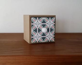 box 1 drawer side cement tile