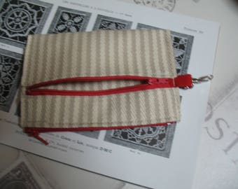 Wallet sneaker off-white 10 x 16 Red zip