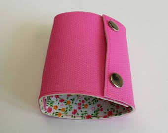 Recycled - Card holder recycled linoleum color pink
