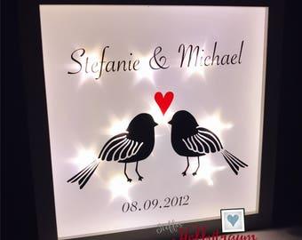 Light frame, lighted frame, wedding gift, wedding, wedding