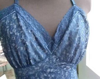 Vintage Blue Lace Slip!
