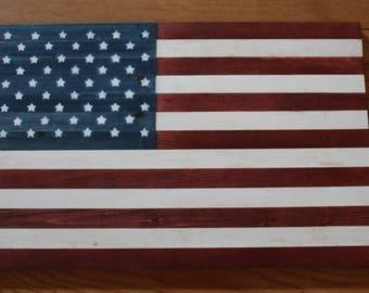 Wood American Flag, United States