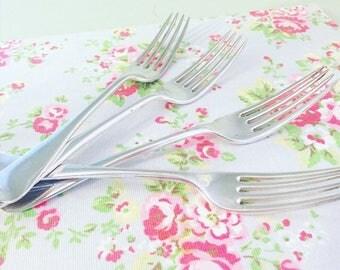 Vintage Forks, Four Silver Plated Vintage Forks, Vintage Cutlery, Vintage Flatware, Vintage Home, Tea Room, Christmas Dining, Kitchenalia.