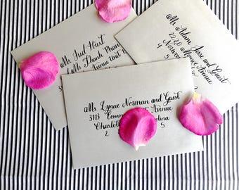 Hand Lettered Address Envelopes- Wedding Envelopes, Calligraphy Envelopes, Save the Date Envelopes, Envelope Addressing