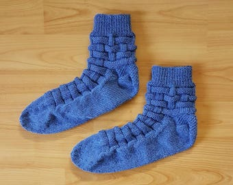 Hand-knitted socks - size 42/43