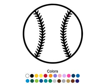 Baseball Sticker Etsy - Custom vinyl baseball decals
